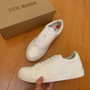 NIB! Steve Madden Mirella Lace Up White Sneakers